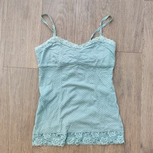 🎁 FREE WITH PURCHASE Mint Polka Dot Lace Cami